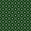 White and Dark Green Fleur-De-Lis Pattern Textured Fabric Backgr