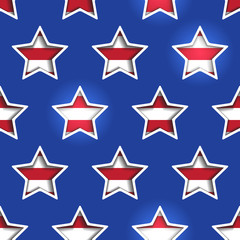 4th July Stars and Stripes 3d Cutout Background.