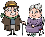 Vector illustration of Senior couple