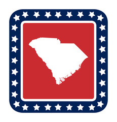 South Carolina state button