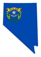 State of Nevada flag map
