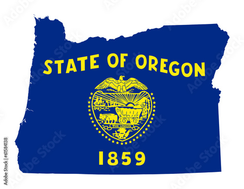 State of Oregon flag map