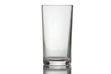Water glass isolated.