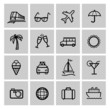 Tourism set icons