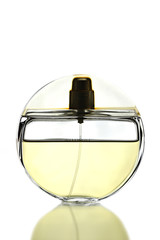 Gold Perfume Bottle isolated.