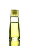 Yellow Perfume Bottle isolated.