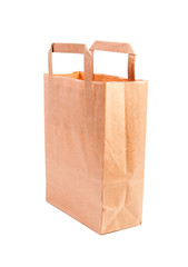 The white background paper bag.