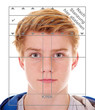 canvas print picture - Teenager, biometrisches Passfoto