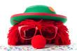 Clownskopf und Konfetti - 61585163