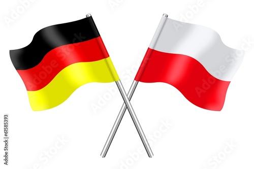 Fahnen: Deutschland und Polen