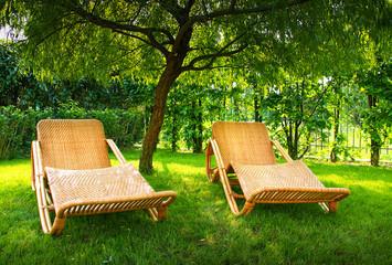 sedie in ratan da giardino