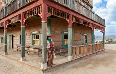 Cowboy at Hollywood Western Town Almeria Andalusia Spain