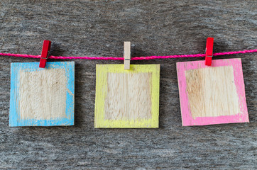 colorful wood background frame