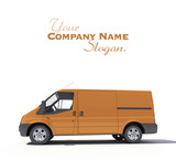 Brown van ready for branding