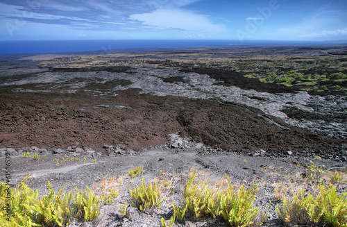 Desolated landscape in chain of craters road