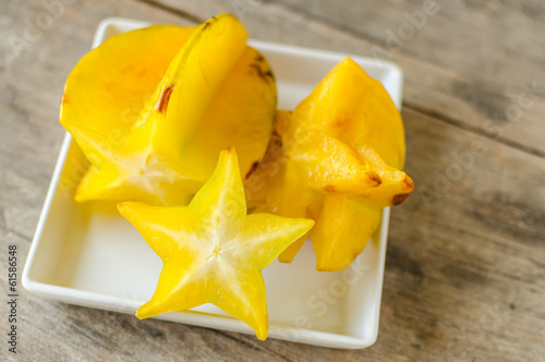 star fruit sliced-carambola