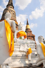 タイのアユタヤ遺跡