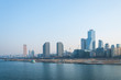 The skyline of the Yeouido business district in Seoul.