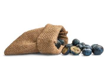 Berries in a canvas bag