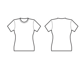 Front Female T-shirt template