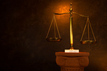Justice Scale on Greek column