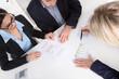 Team Besprechung oder Meeting von Business Personen