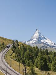 Zermatt, Bergdorf, Matterhorn, Schweizer Alpen, Sommer
