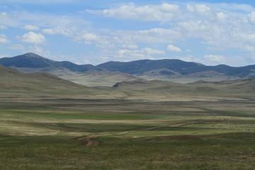 Die mongolische Steppe