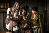 Steampunk Trio with Phone