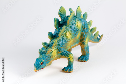 Stegosaurus, colorful dinosaur toy