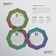 Octagons Infographic Elements - 3 options