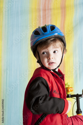 Child in bicycle