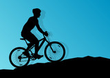 Active cyclist bicycle rider background illustration vector