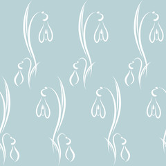 Snowdrops. Background/Pattern.
