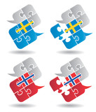 Speech bubbles Swedish Norwegian