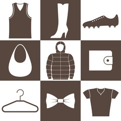 Clothes. Icon Set