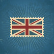 Retro United Kingdom Flag Postage Stamp