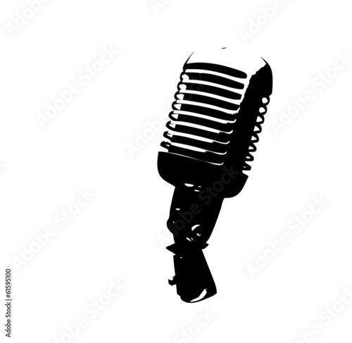 vector illustration of vintage Microphone
