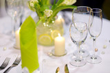 Table setting for an event party - 61595908