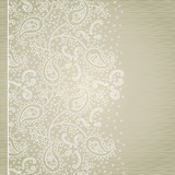 Ornate vintage seamless border with lacy ornament.