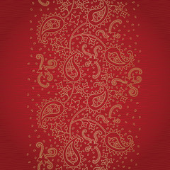 Ornate vintage seamless border with lacy ornament