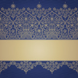 Vintage seamless border with lacy ornament.