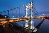 George Washington Bridge illuminated for the Big Game