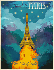 Travel to Paris Poster