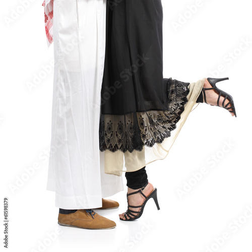 Arab saudi emirates couple legs hugging