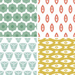 Vector set of four tribal shapes abstract geometric patterns and
