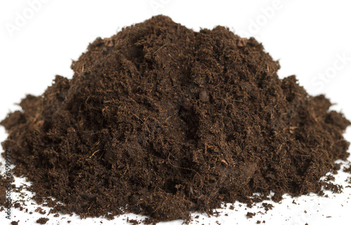 Heap of soil.