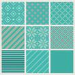 Set of seamless knitting patterns