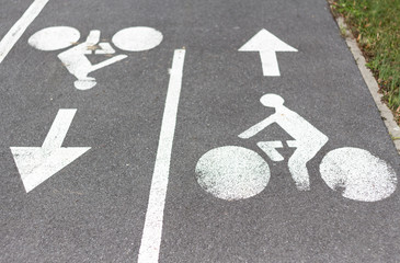 Signalisation de piste cyclable
