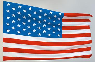 Bandiera Americana svolazzante